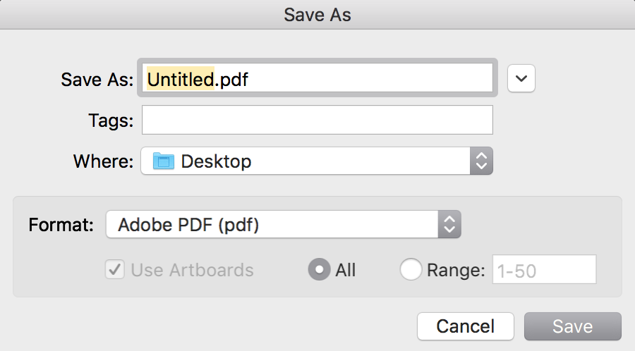Exporting your Book Template as a PDF in Illustrator
